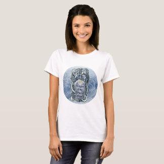 """""""Cavaleiros t-shirt do rosa de inverno"""" (senhoras) Camiseta"""