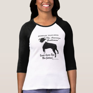 Cavalheiro americano - t-shirt de Boston Terrier Camiseta