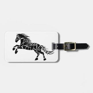 Cavallerone - cavalo preto etiqueta de bagagem