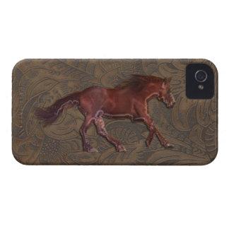 Cavalo-amante selvagem capa de iphone 4 utilizado