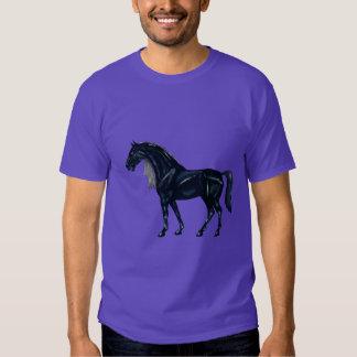 Cavalo árabe preto camisetas