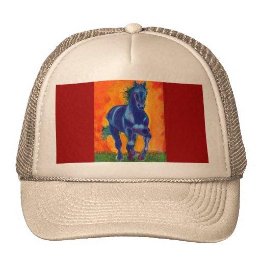 Cavalo azul boné