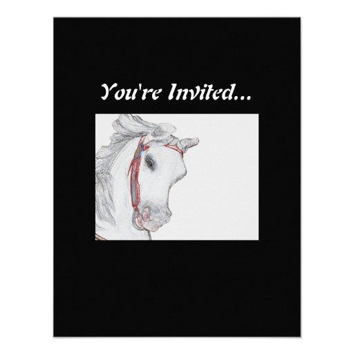 Cavalo bonito do carrossel convite