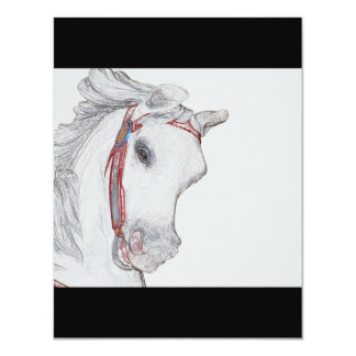Cavalo bonito do carrossel convite 10.79 x 13.97cm