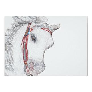 Cavalo bonito do carrossel convite 12.7 x 17.78cm