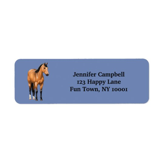 Cavalo bonito do quarto do Buckskin Etiqueta Endereço De Retorno