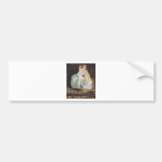 "Cavalo branco ""gazela"" por Henri de Adesivo Para Carro"