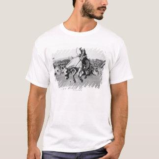 Cavalo bucking da equitação do homem no rodeio camiseta