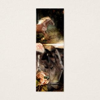 Cavalo & cartão da escritura mini customizável