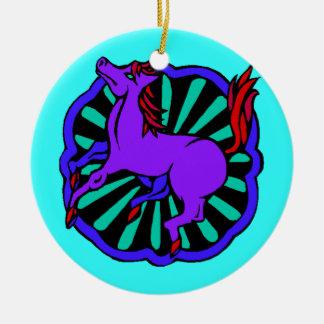 Cavalo chinês do zodíaco do aniversário do ornamen enfeites para arvores de natal