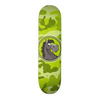 Cavalo cinzento; camo verde-claro, camuflagem skates personalizados
