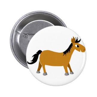 Cavalo cómico bóton redondo 5.08cm