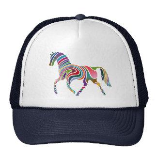 Cavalo Cor-Listrado do arco-íris Bonés