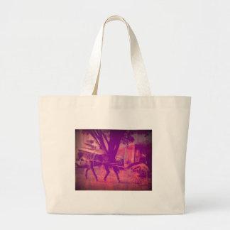 cavalo de amish e olhar cor-de-rosa com erros do bolsa tote grande