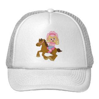 Cavalo de equitação da vaqueira (rosa) boné
