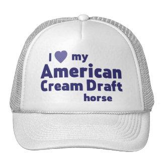 Cavalo de esboço de creme americano boné