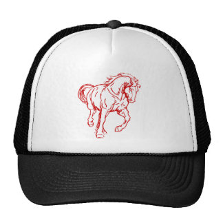Cavalo de esboço de galope bones