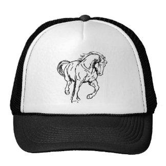Cavalo de esboço de galope bonés
