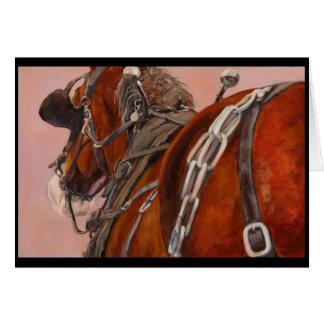 Cavalo de esboço no cartão do chicote de fios