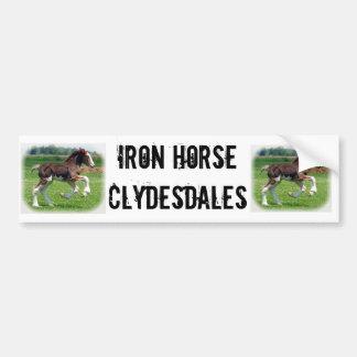 Cavalo de ferro Clydesdales Adesivo