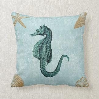 Cavalo de mar da praia travesseiro de decoração