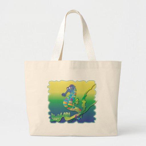 Cavalo de mar dos desenhos animados bolsas