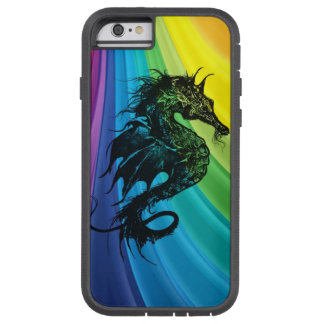 Cavalo de mar no arco-íris capa tough xtreme para iPhone 6