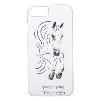 Cavalo de salto à moda da ligação em ponte capa iPhone 8/ 7