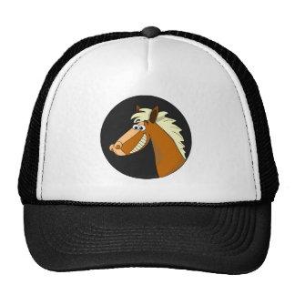 Cavalo de sorriso dos desenhos animados boné