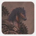 Cavalo de Steampunk Adesivos Quadrados