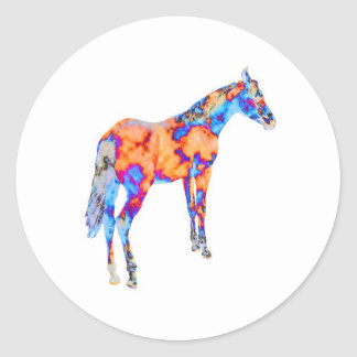 Cavalo de uma cor diferente adesivo em formato redondo
