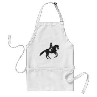 Cavalo do adestramento e avental do design do