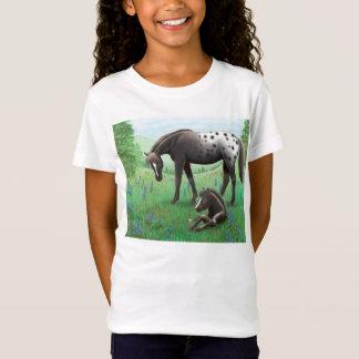 Cavalo do Appaloosa & camisa da boneca das meninas
