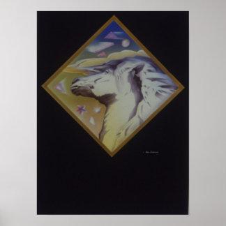Cavalo do art deco poster