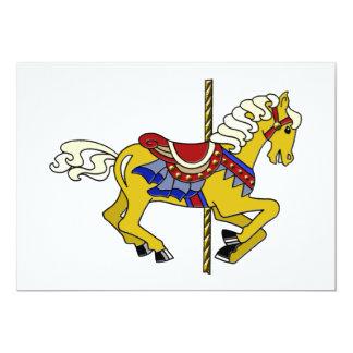 Cavalo do carrossel do Palomino Convite 12.7 X 17.78cm