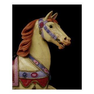 Cavalo do carrossel pôster