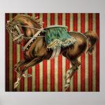 cavalo do circo do vintage posteres