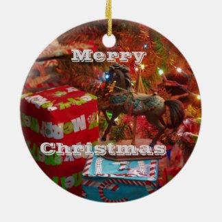 Cavalo do Natal & enfeites de natal dos