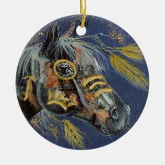 Cavalo do nativo americano, cada ornamento do dia,