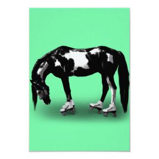 Cavalo do patinador convite 8.89 x 12.7cm