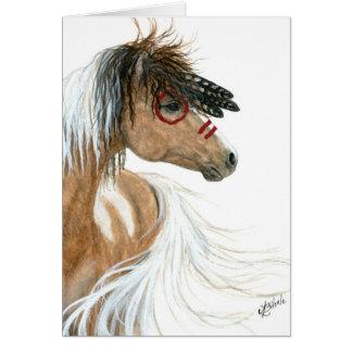 Cavalo do Pinto pelo cartão de nota do cumprimento