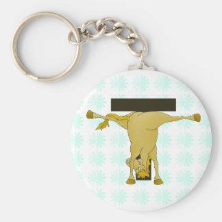 Cavalo do pônei do monograma T personalizado Chaveiro