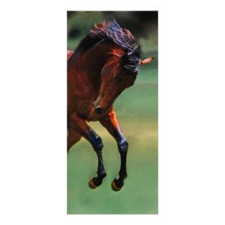 Cavalo do rodeio para o vaqueiro 10.16 x 22.86cm panfleto
