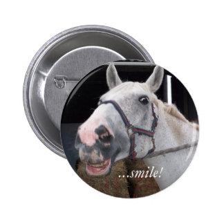 Cavalo do sorriso - botão bóton redondo 5.08cm