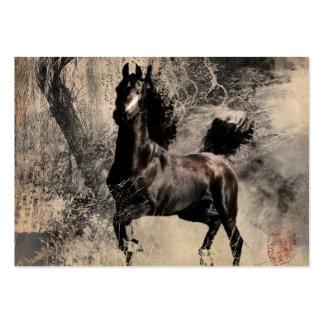 Cavalo do vintage - arte da pintura chinesa modelos cartao de visita