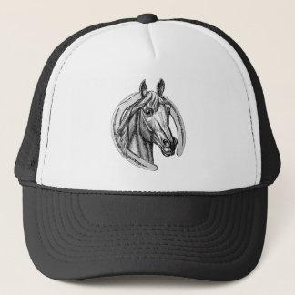 Cavalo do vintage e boné da ferradura