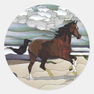 Cavalo do vitral adesivo