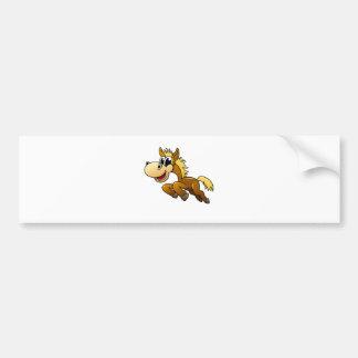 Cavalo dos desenhos animados adesivos