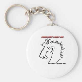 Cavalo dos desenhos animados: Alguém ama-me Chaveiro