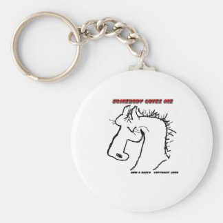 Cavalo dos desenhos animados: Alguém ama-me Chaveiros